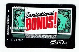 Las Vegas SANDS Casino Hotel SLOT CARD / Players Club Card - $100 Bill