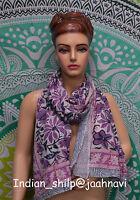 Cotton Long Sarong Dupata Fabric Women Indian Hand Block Print Stole Scarf Gift