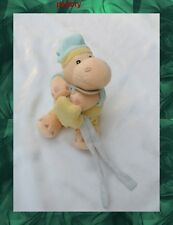 Doudou Peluche Musical Hippopotame Mario Jaune Bonnet Vert  Babynat'