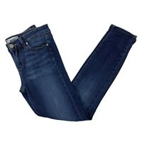 Paige Womens Sz 26 Blue Dark Wash Verdugo Ankle Skinny Leg Stretch Denim Jeans