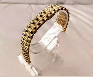 Mens Authentic Rolex President 18k YG Pave Diamonds Bracelet Band