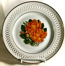 "B & G Danbury Mint The 12 Rose Plates 8 1/2"" Tropicana Plate"