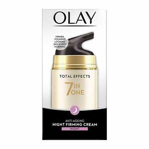 Olay Night Cream Total Effects 7 in 1, Anti-Ageing Moisturiser, 50g