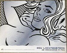 """Roy Lichtenstein """"Seductive Girl"""" Art Exhibition Print of 2007"""