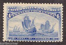 United States Scott #233 Columbian Exposition Issue 4c Mint Never Hinged OG