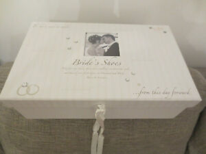 Brides Bridal Wedding Shoe  Box with Space for Photo  +  Satin Shoe Bag  UNUSED
