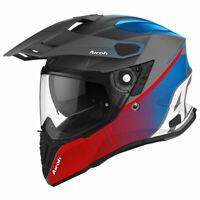 Airoh Commander 2020 Progress Moto Motorcycle Bike Helmet Matt Red / Blue
