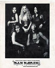 The Iron Maidens Glossy B&W 8x10 photo
