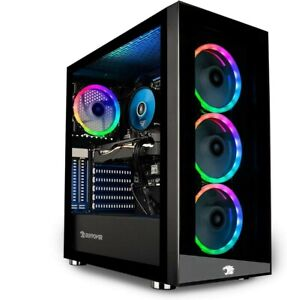 iBUYPOWER - Trace MR Gaming Desktop - Intel i5-10400F - 8GB Memory - NVIDIA GeFo