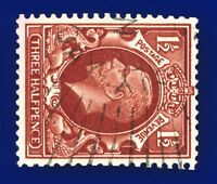 1934 SG441b 1½d Red-Brown (Wmk Side) N53b Good Used CV-FU £5 ashz