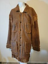 New listing Scully Mens Vintage Leather Tan Western Fringe Jacket 48