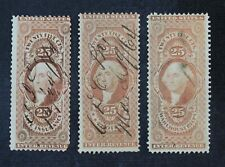 CKStamps: US Revenue Stamps Collection Scott#R47c Spot Thin #R49c R50c Used