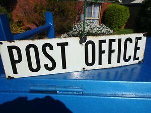 ORIGINAL POST OFFICE ENAMEL SIGN