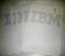 """5 Vintage Grey IBM LOGO Gummed Mailing Envelope Lot 13.5"""" x 10.5"""" NOS NR"""