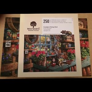 Wentworth Wooden Jigsaw Whimsy Puzzle 250pcs Grandpa's Potting Shed (Cute Cats )