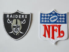2pcs Oakland Raiders NFL Logo Patches embroidered iron on patch
