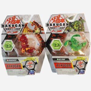 Bakugan Armored Alliance - Nillious + Dragonoid - 2 Action Figures Bundle Lot
