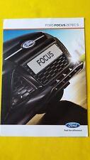 Ford Focus Zetec S car brochure sales catalogue November 2011 MINT