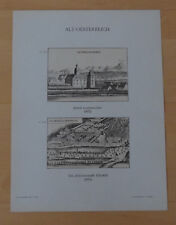 Schloss Leutmannsdorf Stift Lilienfeld Österreich Lithographie Alter Druck 1897