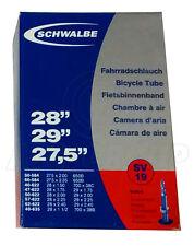 """Schwalbe SV19 Presta Tube – 27.5, 28, 29"""" - Inner Tube (50-584 to 40-635)"""