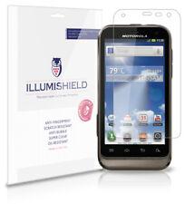 iLLumiShield Phone Screen Protector w Anti-Bubble/Print 3x for Motorola Defy XT