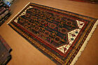 Stunning Pictorial Tribal Carpet,Beautiful Very Fine Quality Hand Knoted Natural