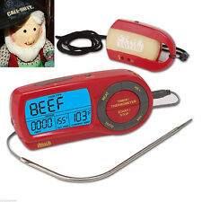 BBQ Thermometer Digital Wireless Timer Smoker Grill Oven Meat w/ Remote Page New