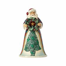 4058744 Jim Shore Woodland Wonderland Santa With Wreath  NIB