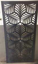 Decorative Garden Metal Fence Screen 'Fern2 Laser Cut, 1800x900, Corten Steel