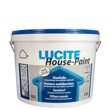 (19,00€/ L) Lucite House Paint 12L weiss 1000T , Hausfarbe, Fassadenfarbe