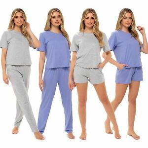 Ladies/Womens Boxy Style Pyjama PJ Set Top And Bottoms/Shorts Pyjamas Size 8-22