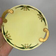 """Art Nouveau plate 7.5"""" Japan Handpainted Randolph Gold Handles"""