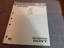 More details for sony service manual 0pk-401 nicam stereo decoder