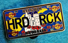 BRUSSELS BELGIUM LICENSE PLATE SERIES *HALLEPOORT CASTLE* Hard Rock Cafe PIN