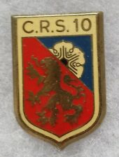 Insigne Badge POLICE Obsolète CRS 10 ancien Drago ORIGINAL FRANCE