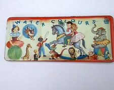 Vintage Water Color Paints Circus Tin