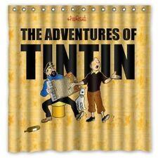 Tim und Struppi Magazin Comic Tintin Duschvorhang Badvorhang Film Modell 1