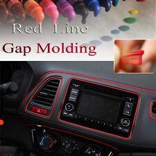 Red 5m Point Edge Gap Line Auto Car Interior Accessories Garnish Molding Decals
