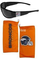 Denver Broncos NFL Chrome Wrap Sunglasses w/ Microfiber Bag