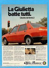 QUATTROR980-PUBBLICITA'/ADVERTISING-1980- ALFA ROMEO - GIULIETTA