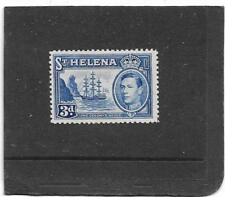 "ST HELENA 1938 3d.Ultramarine ""SHIP"" SG.135 LIGHTLY MOUNTED MINT CAT £80"