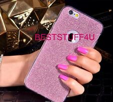 GLITTER SPARKLY BACK Fits IPhone Soft Bling Shock Proof Silicone Case Cover A10
