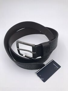 Fred Perry Men Tumbled Leather Belt Chocolate 34'