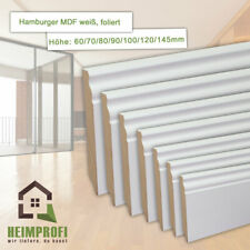 Hamburger / Alt Berliner Profil MDF Fußleiste 19mm weiß Sockelleiste Fussleisten
