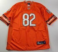 NFL Chicago Bears Greg Olsen 82 Men's Jersey 54 Orange Game Day Short Sleeve