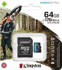 Kingston 64GB micro SD Karte SDXC Class 10 UHS-I 170MB/S für 4K Videos  DE/OVP