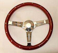 "1965-1969 Fairlane Galaxie 500 Thunderbird Wood Steering Wheel 15"" Classic Style"