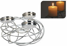 Chrome Candle Holder Candlestick Candle Wedding Table Candles Christmas Candles