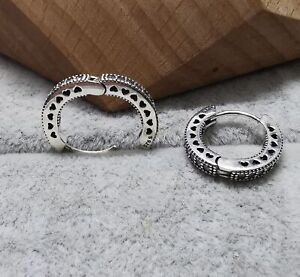Pandora Ohrringe 296317CZ Hearts of Pandora Hoop Earrings S925 ALE