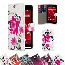 32nd Design Book Wallet Case Cover for Sony Xperia SP + Screen Protector